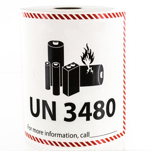 UN 3480 Lithium Battery Handling Labels