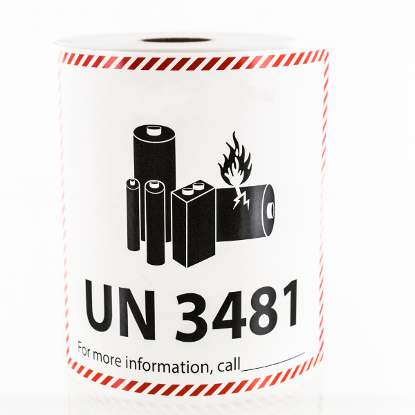 Custom UN Lithium Ion Battery Warning Labels
