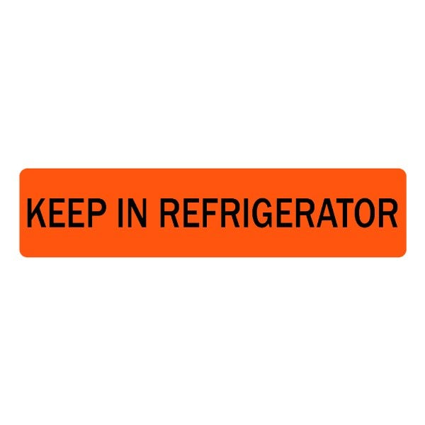 Keep in Refrigerator Veterinary Labels