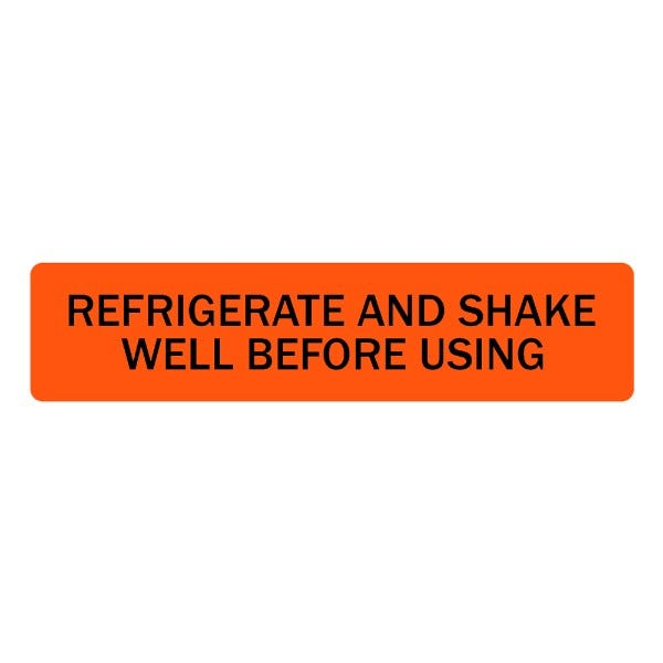 Refrigerate and Shake Well Before Using Veterinary Labels