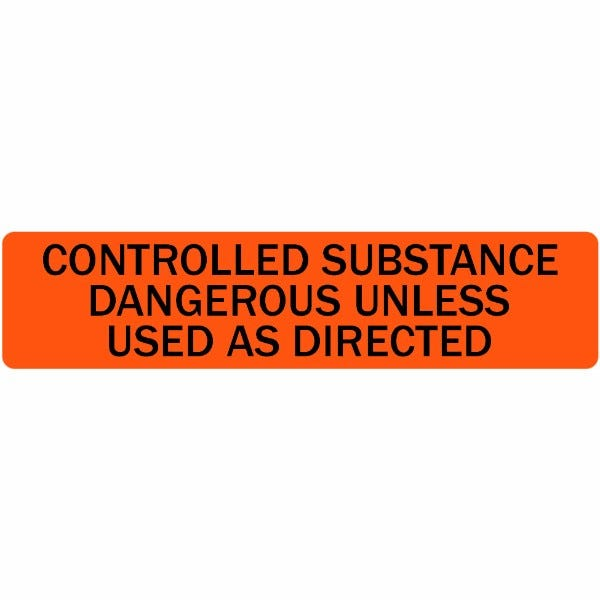 Controlled Substance Veterinary Labels