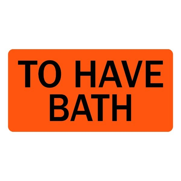 To Have Bath Veterinary Labels