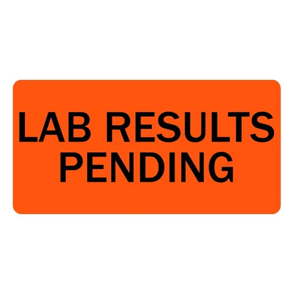Lab Results Pending Veterinary Labels
