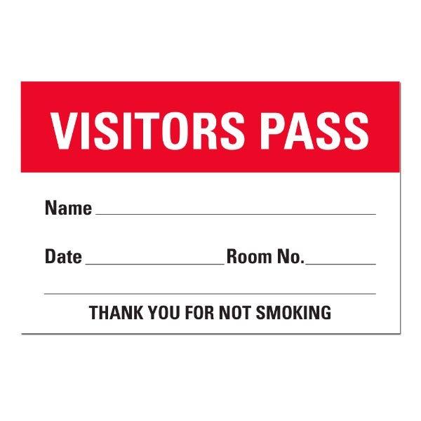 Visitors Pass Sheet Labels