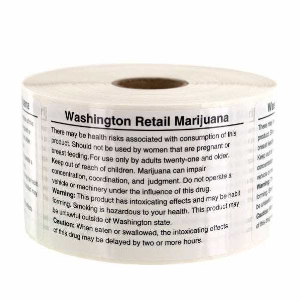 Washington State Cannabis Warning Text Labels