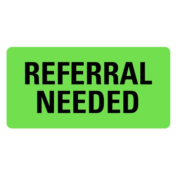 REFERRAL NEEDED Medical Records Labels
