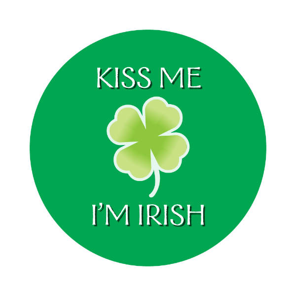 """Kiss Me I'm Irish Labels 1.5"""""""
