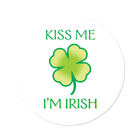 Kiss Me I'm Irish Labels Light Green