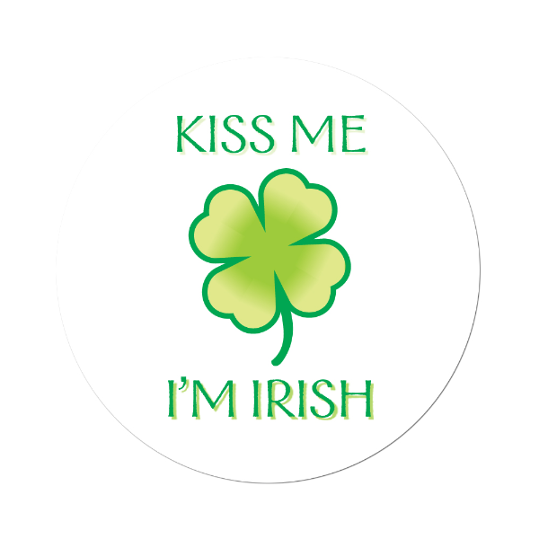 Kiss Me I'm Irish Labels Light Green