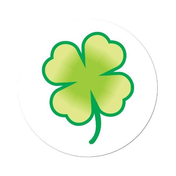 St. Patrick's Day Shamrock Labels Light Green