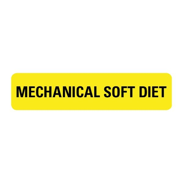 Mechanical Soft Diet Food Service Medical Labels