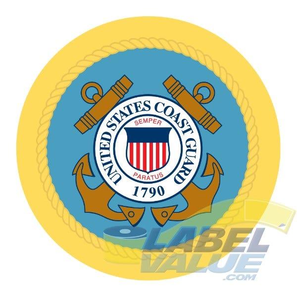 """U.S. Coast Guard Labels 1-1/2"""""""