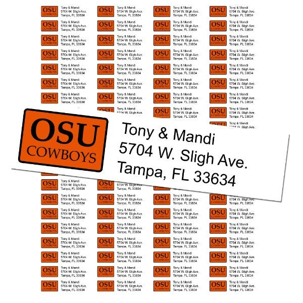 Oklahoma State University Custom Return Address Labels