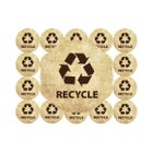 "Brown Craft Paper Style Recycle Labels | 2"" Circles"