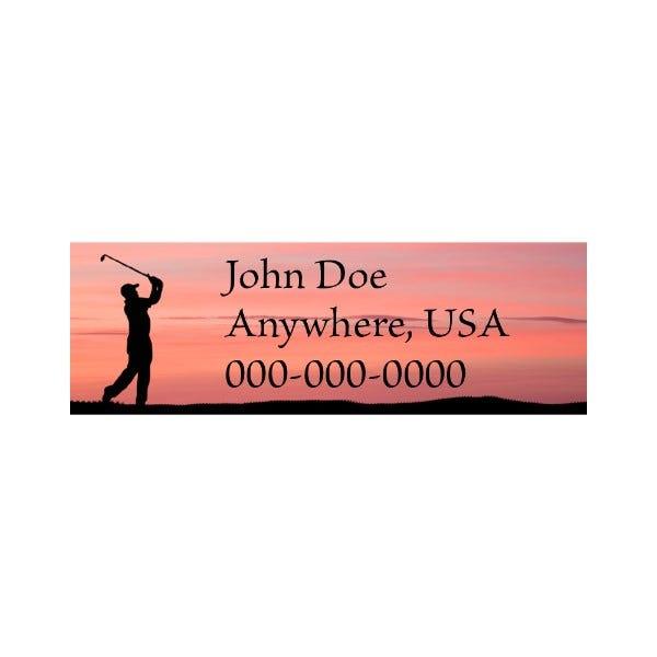 Sunset Golfer Golf Club Labels