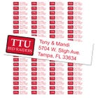 Texas Tech University Custom Return Address Labels