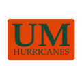 University of Miami Hurricanes Custom Return Address Labels