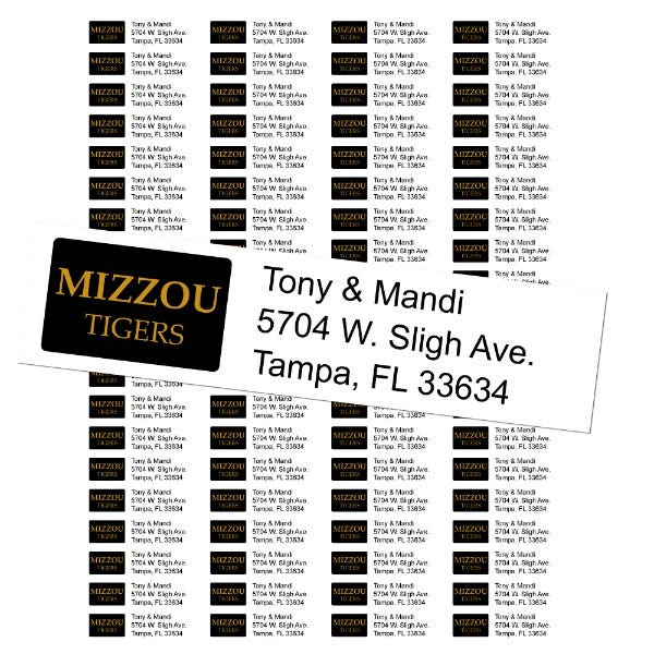 University of Missouri Custom Return Address Labels