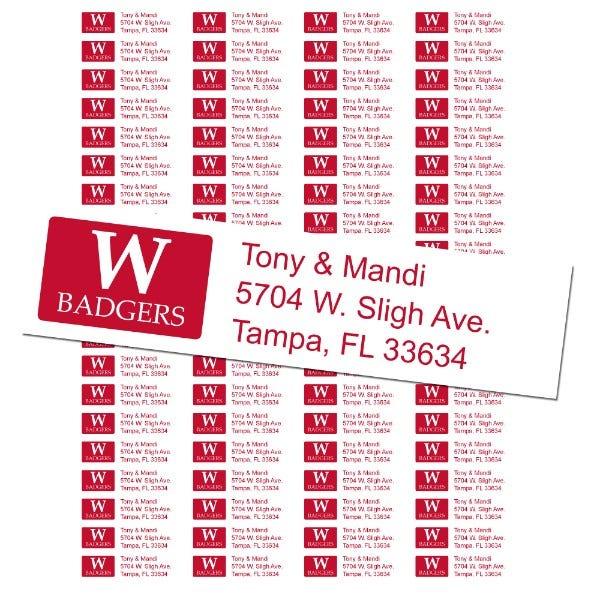 University of Wisconsin Custom Return Address Labels