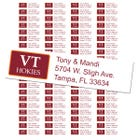 Virginia Tech University Custom Return Address Labels