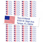 USA Flag Return Address Labels