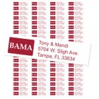 University of Alabama Custom Return Address Labels