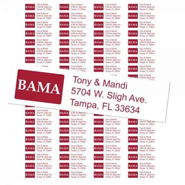University of Alabama Custom Return Address Labels