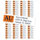 Auburn University Tigers Custom Return Address Labels