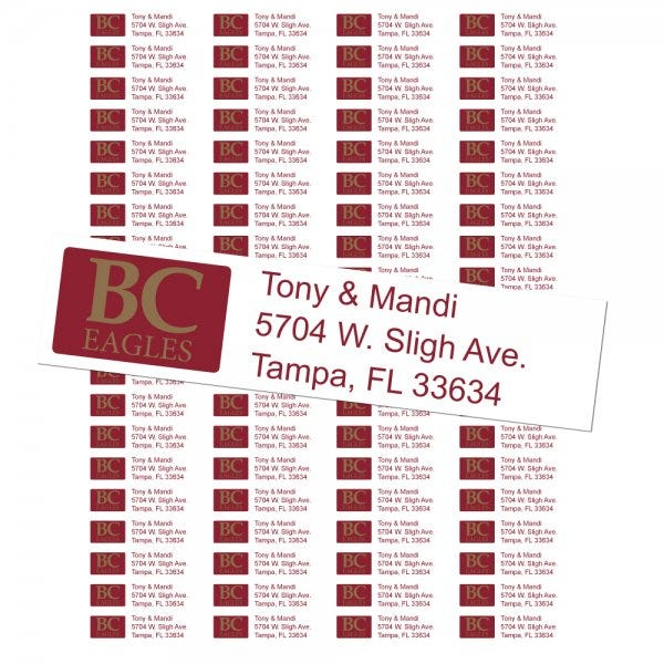Boston College Eagles Custom Return Address Labels