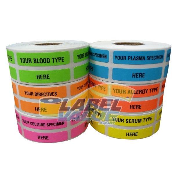 """Custom Printed Medical Labels .375"""" x 1.625"""""""