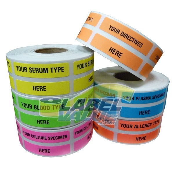 "Custom Printed Veterinary Labels .375"" x 1.625"""