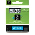 "Dymo 43610 Black on Clear - 1/4"" Tape"