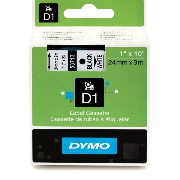 """Dymo 53713 Black on White - 1"""" Tape"""