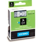 "Dymo 45810 White on Clear - 3/4"" Tape"