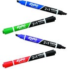 Expo Dry Erase Marker 4 Pack - 2 In 1 Assorted Colors
