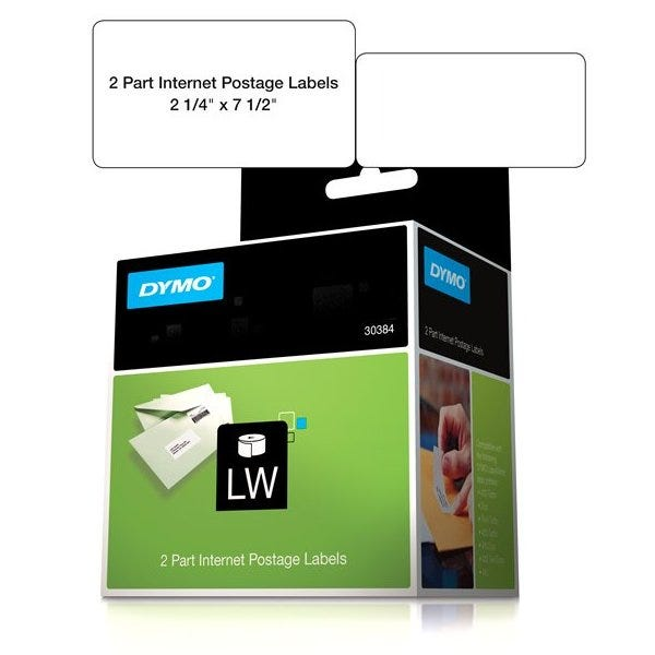 Dymo 30384 Internet Postage Labels 2-Part