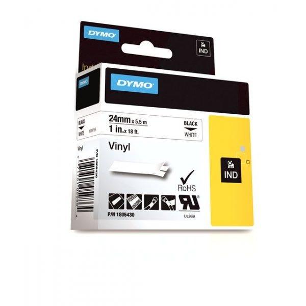 """Rhino 1"""" White Vinyl (24mm) Tape"""