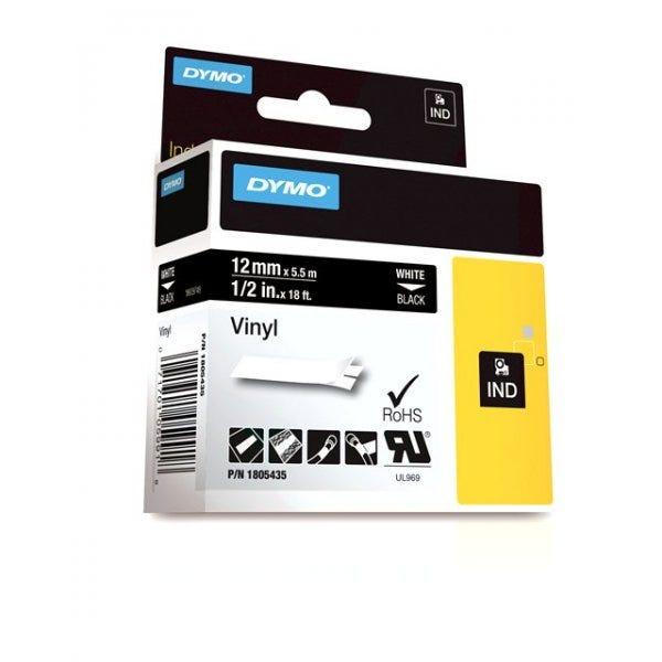 "Rhino 1/2"" Black Vinyl (12mm) Tape"