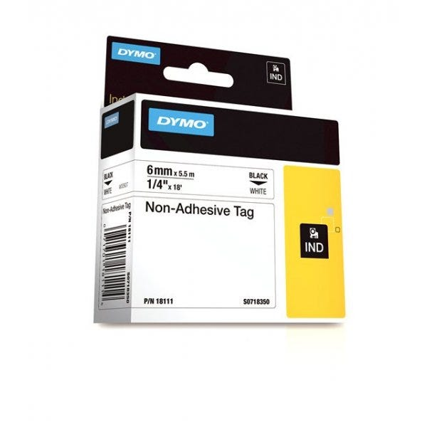 "Rhino 1/4"" White Non Adhesive Tape (6MM)"