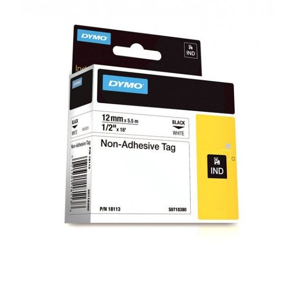 "Rhino 1/2"" White Non Adhesive Tape (12MM)"