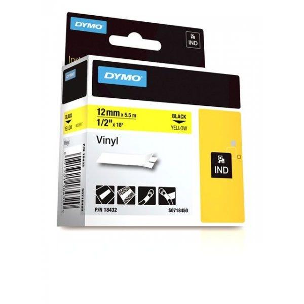 """Rhino 1/2"""" (12mm) Yellow Vinyl Tape"""