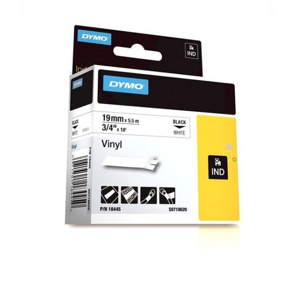 "Rhino White Vinyl 3/4"" (19mm) Tape"