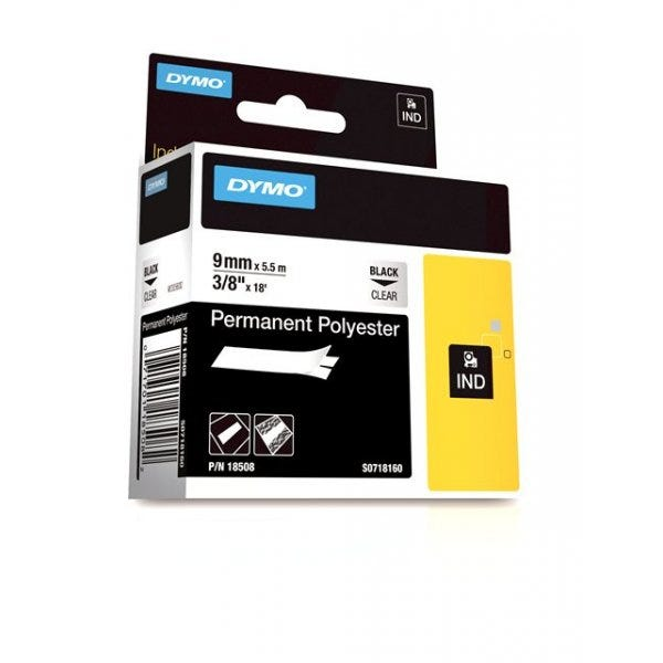 """Rhino 3/8"""" Clear Permanent Polyester Tape (9mm)"""