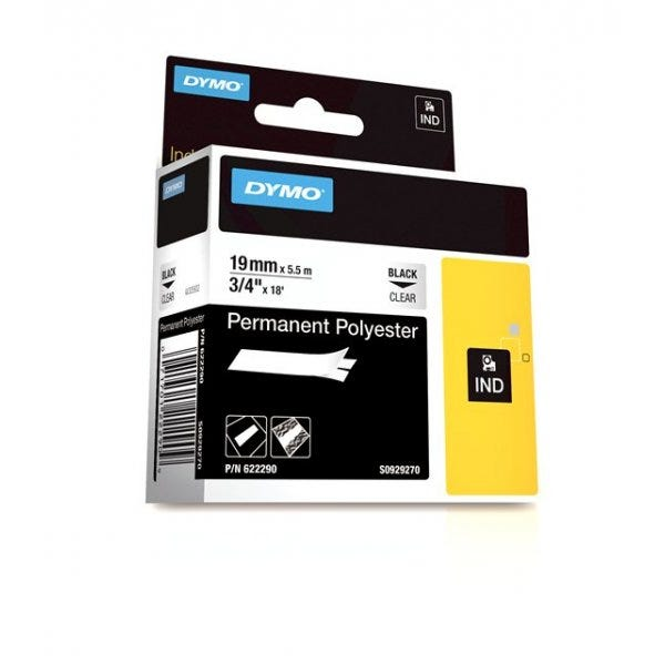 """Rhino 3/4"""" Clear Permanent Polyester Tape (19mm)"""