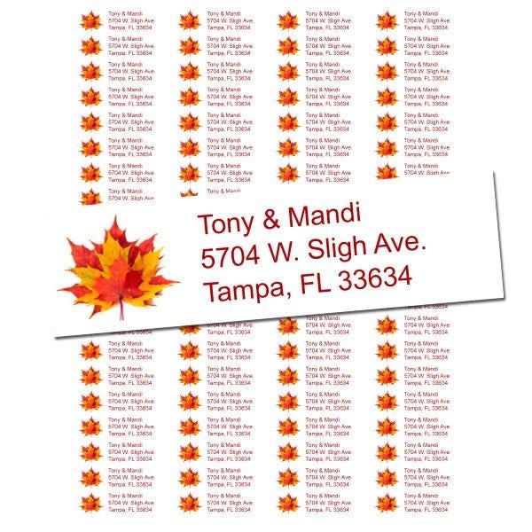 Fall Leaves Return Address Labels