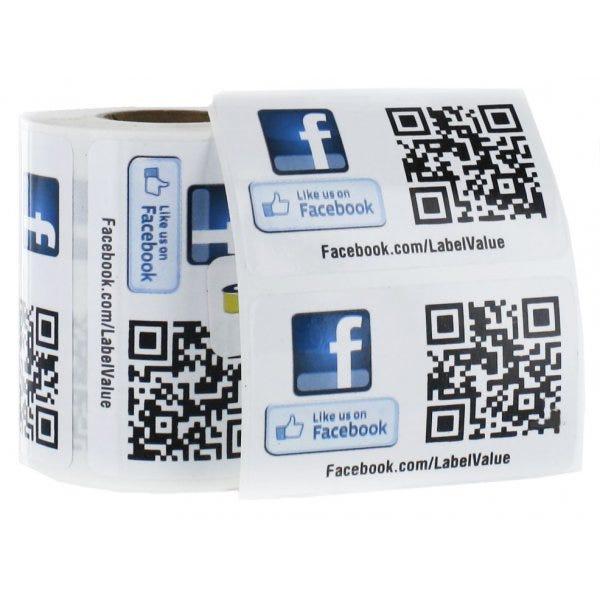Like Us on Facebook Custom QR Code Labels