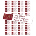 Florida State University Seminoles Custom Return Address Labels