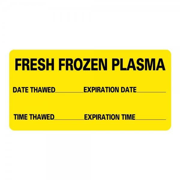 Fresh Frozen Plasma Medical Labels