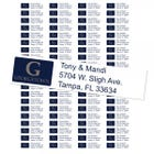 Georgetown University Hoyas Custom Return Address Labels