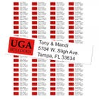 University of Georgia Bulldogs Custom Return Address Labels